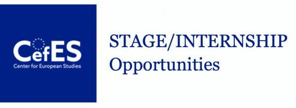 STAGE / INTERNSHIP OPPORTUNITIES